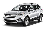 2018 Ford Escape Titanium 5 Door Suv Angular Front stock photos of front three quarter view
