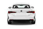 Straight rear view of 2021 BMW 4-Series-Coupe 430i 2 Door Coupe Rear View  stock images