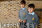 CBS the Green students Rory Healy and Tadgh Scanlon who took 1st place at the Science Fest 2019 Communications Award