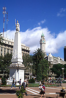 Life in Argentina  Plaza de Mayo Towers in downtown Buenos Aires  .