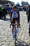 Sebastien Minard (FRA) AG2R La Mondiale at sign on before the start of the 113th edition of the Paris-Roubaix 2015 cycle race held over the cobbled roads of Northern France. 12th April 2015.<br /> Photo: Eoin Clarke www.newsfile.ie