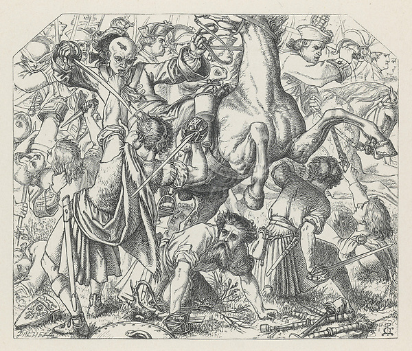 Culloden     Date: 1746     Source: Noel Paton in Aytoun's Lays Of The Scottish Cavaliers page 166