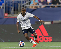 FOXBOROUGH, MA - JUNE 27: Fabrice-Jean Picault #9 on the attack during a game between Philadelphia Union and New England Revolution at Gillette Stadium on June 27, 2019 in Foxborough, Massachusetts.