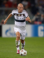 Calcio, Champions League, Gruppo E: Roma vs Bayern Monaco. Roma, stadio Olimpico, 21 ottobre 2014.<br /> Bayern's Arjen Robben in action during the Group E Champions League football match between AS Roma and Bayern at Rome's Olympic stadium, 21 October 2014.<br /> UPDATE IMAGES PRESS/Isabella Bonotto