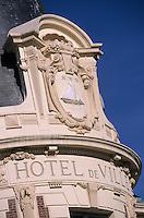 Europe/France/Normandie/Basse-Normandie/14/Calvados/Trouville: Détail de la façade de l'hôtel de ville