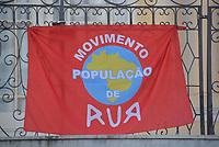 CURITIBA, PR, 22.04.2021 Movimento População de rua-Audiencia na camara de vereador , em relação aos movimentos e ongs de população de rua ( entregas de refeiçoes) nessa quinta(22).