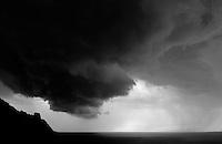 Bakartasun uneak - Solitary moments. Basque Country. Sea storm.<br /> Photo: Ander Gillenea.