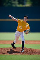 Travis Smith (25) of Walton-Verona High School in Walton, KY during the Perfect Game National Showcase at Hoover Metropolitan Stadium on June 18, 2020 in Hoover, Alabama. (Mike Janes/Four Seam Images)