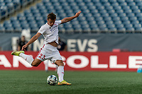 FOXBOROUGH, UNITED STATES - AUGUST 21: Victor Falck #23 of Richmond Kickers warms up before a game between Richmond Kickers and New England Revolution II at Gillette Stadium on August 21, 2020 in Foxborough, Massachusetts.