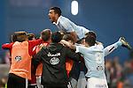 Celta de Vigo's Gustavo Cabral celebrates goal during Spanish Kings Cup match. January 27,2016. (ALTEPHOTOS/Acero)