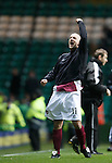 Arbroath player manager Paul Sheerin celebrates at the final whistle