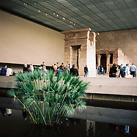 The Temple of Dendur stands inside the Metropolitan Museum of Art in New York on Monday, April 30, 2018. (Photo by James Brosher)