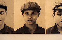 Khmer Rouge guards at the S-21 detention centre at Tuol Sleng, where over 16,000 inmates were killed between 1975 and 1979. The photographs were taken by the Khmer.