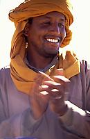 Libya , smailng Tuareg