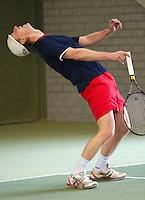 12-03-11, Tennis, Rotterdam, NOVK, Jan Houkes uit zijn frustratie