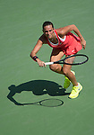 Roberta Vinci (ITA) takes the first set against Kristina Mladenovic (FRA) 6-3 at the US Open in Flushing, NY on September 8, 2015.