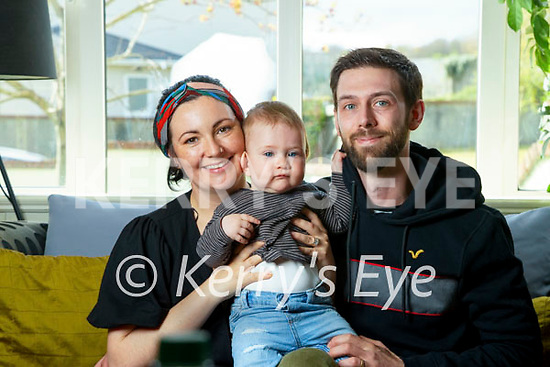 Caroline and Tom Weeks with their son Noah.