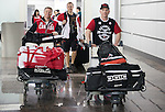 Tyler Mosher and Ian Lockey, Sochi 2014.<br /> Team Canada arrives at the airport in Sochi for the Sochi 2014 Paralympic Winter // Équipe Canada arrive à l'aéroport de Sotchi pour Sochi 2014 Jeux paralympiques d'hiver. 05/03/2014.
