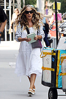 NEW YORK, NY-  JULY 15: Sarah Jessica Parker on the set of the HBOMax series 'And Just Like That' in New York City on July 15, 2021.<br /> CAP/MPI/RW<br /> ©RW/MPI/Capital Pictures
