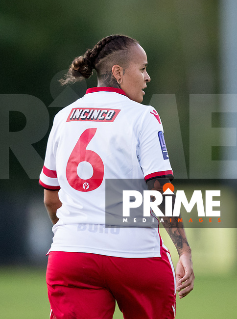 during the 2018/19 Pre Season Friendly match between Watford Ladies and Stevenage Ladies FC at Gaywood Park, Hempstead Road, England on 16 August 2018. Photo by Andy Rowland.