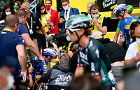 After years in limbo, 36 yr old veteran Mark Cavendish (GBR/Deceuninck - Quick Step) finally is up there again, with an emotional 31st TdF stage win.<br /> <br /> Stage 4 from Redon to Fougères (150km)<br /> 108th Tour de France 2021 (2.UWT)<br /> <br /> ©kramon