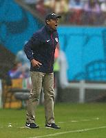 USA Coach Juergen Kilnsmann shouts on the touchline