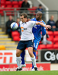 St Johnstone v Bolton....02.08.10  Pre-Season Friendly.Kevin Davies and Michael Duberry.Picture by Graeme Hart..Copyright Perthshire Picture Agency.Tel: 01738 623350  Mobile: 07990 594431