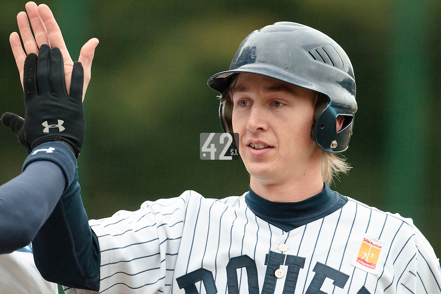 23 October 2010: Luc Piquet of Rouen is seen during Savigny 8-7 win (in 12 innings) over Rouen, during game 3 of the French championship finals, in Rouen, France.