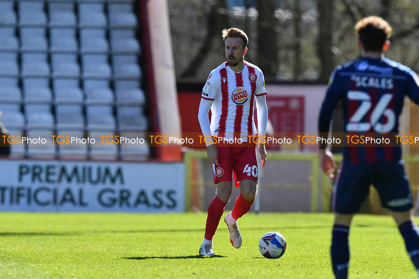 Chris Lines of Stevenage FC during Stevenage vs Bradford City, Sky Bet EFL League 2 Football at the Lamex Stadium on 5th April 2021