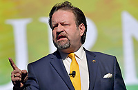 WEST PALM BEACH, FL - DECEMBER 19: Sebastian Gorka speaks at the 2019 Turning Point USA Student Action Summit - Day 1 at the Palm Beach County Convention Center on December 19, 2019 in West Palm Beach, Florida.<br /> <br /> <br /> People:  Sebastian Gorka