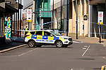 """Police secure the scene in union street Sheffield where the body of a man in his 20s was found in the early hours of Tuesday morning (24th March 2020). Police have identified man and officers are now trying to trace the man's family. The young mans death is currently being treated as """"unexplained"""" and the area has been cordoned off. <br /> <br /> 24 March 2020<br /> <br /> www.pauldaviddrabble.co.uk<br /> All Images Copyright Paul David Drabble - <br /> All rights Reserved - <br /> Moral Rights Asserted -"""