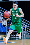 Lam Chun Kwong #8 of Tycoon Basketball Team dribbles the ball up court against the HKPA during the Hong Kong Basketball League game between HKPA and Tycoon at Southorn Stadium on June 22, 2018 in Hong Kong. Photo by Yu Chun Christopher Wong / Power Sport Images