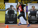 MONTREAL, QC - APRIL 29:  A participant runs during the 2017 Montreal Paralympian Search at Complexe sportif Claude-Robillard. Photo: Minas Panagiotakis/Canadian Paralympic Committee