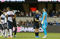 SAN JOSE, CA - AUGUST 24: Magnus Eriksson #7 of the San Jose Earthquakes retrieves the ball from Maxime Crépeau #16 of the Vancouver Whitecaps FC during a Major League Soccer (MLS) match between the San Jose Earthquakes and the Vancouver Whitecaps FC  on August 24, 2019 at Avaya Stadium in San Jose, California.