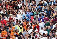 Calcio, Serie A: Roma vs Juventus. Roma, stadio Olimpico, 30 agosto 2015.<br /> Police officers among Roma fans prior to the start of the Italian Serie A football match between Roma and Juventus at Rome's Olympic stadium, 30 August 2015.<br /> UPDATE IMAGES PRESS/Riccardo De Luca