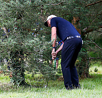 4th July 2021; Mount Juliet Golf Club, Kilkenny, Ireland; Dubai Duty Free Irish Open Golf, Day Four; Maximilian of Germany takes his third shot from the bushes on the 7th hole