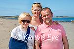 Enjoying a stroll on Castlegregory beach on Saturday, l to r: Saoirse, John and Helen Kerins.