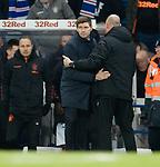 04.03.2020: Rangers v Hamilton: Steven Gerrard and Brian Rice at full time