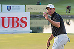 Sam Brazel of Australia reacts after finishing the course during the 58th UBS Hong Kong Golf Open as part of the European Tour on 10 December 2016, at the Hong Kong Golf Club, Fanling, Hong Kong, China. Photo by Marcio Rodrigo Machado / Power Sport Images