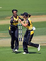during the Dream11 Super Smash T20 women's cricket final between Wellington Blaze and Canterbury Magicians at the Basin Reserve in Wellington, New Zealand on Saturday, 13 February 2021. Photo: Dave Lintott / lintottphoto.co.nz
