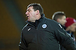 St Johnstone v Hamilton Accies...04.01.15   SPFL<br /> Tommy Wright turns away in anger as James McFadden is sent off<br /> Picture by Graeme Hart.<br /> Copyright Perthshire Picture Agency<br /> Tel: 01738 623350  Mobile: 07990 594431