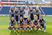 Chicago, IL - Sunday Sept. 04, 2016: Chicago Red Stars Starting XI prior to a regular season National Women's Soccer League (NWSL) match between the Chicago Red Stars and Seattle Reign FC at Toyota Park.