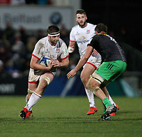 Saturday 7th December 2019 | Ulster Rugby vs Harlequins<br /> <br /> Iain Henderson during the Heineken Champions Cup Round 3 clash in Pool 3, between Ulster Rugby and Harlequins at Kingspan Stadium, Ravenhill Park, Belfast, Northern Ireland. Photo by John Dickson / DICKSONDIGITAL