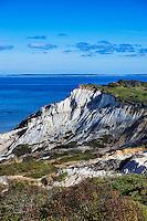 Gay Head cliffs, Moshup beach, Aquinnah, Martha's Vineyard, Massachusetts, USA