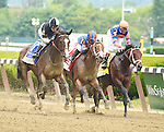 Japan (no. 3), ridden by Junior Alvarado and trained by William Mott, wins the Easy Goer Stakes for three year olds on June 06, 2015 at Belmont Park in Elmont, New York. (Bob Mayberger/Eclipse Sportswire)