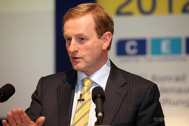 Enda Kenny speaking at the European Economic Forum - Dublin Castle - 19th & 20th April 2012