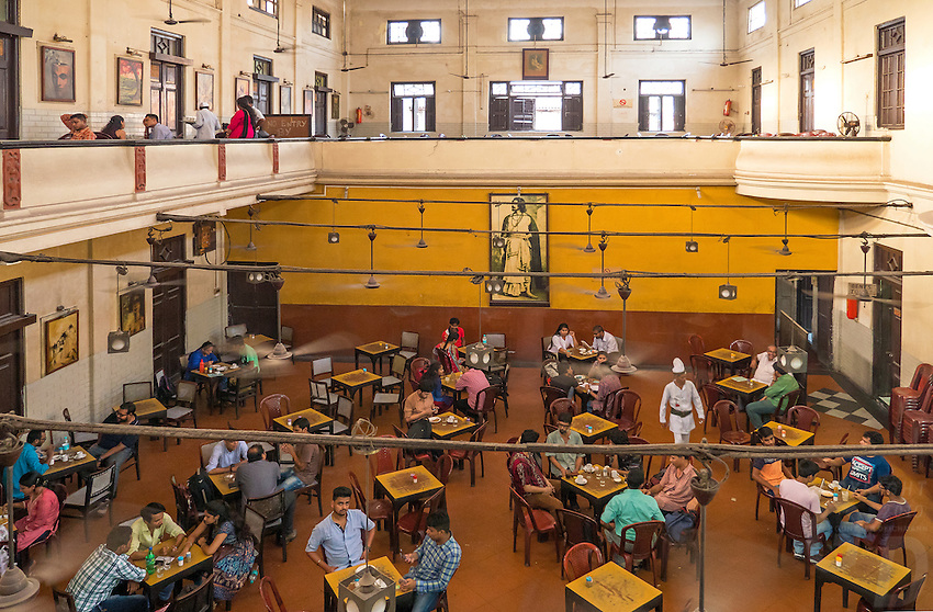 Interior of the famous Kolkata Coffee House near College street.India West Bengal