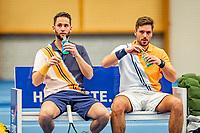 Alphen aan den Rijn, Netherlands, December 18, 2019, TV Nieuwe Sloot,  NK Tennis, Men's doubles: -<br /> Tim van Terheijden (NED) and Jesse Timmermans (NED)(L)<br /> Photo: www.tennisimages.com/Henk Koster
