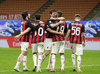 Milano 01-05 2021<br /> Stadio Giuseppe Meazza<br /> Serie A  Tim 2020/21<br /> Milan - Benevento<br /> Nella foto: esultanza                                     <br /> Antonio Saia Kines Milano