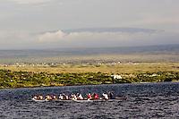 Outrigger canoe near Hilo